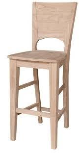 unfinished bar stools. Canyon Unfinished Hardwood Bar Stool - UnfinishedFurnitureExpo Stools F