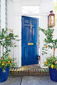 Charleston Door, Deep Blue