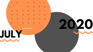 Printable Monthly Calendar July 2020 July 2020 Calendar Printable Template With Holidays
