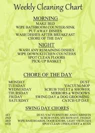 48 best home images kitchen contemporary kitchen dining modern another great chore chart i would love to be organized and disciplined enough to keep up this daily weekly cleaning chart or one similar to keep the