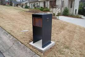 Steel Mailbox Black Cdbossington Interior Design Fun And