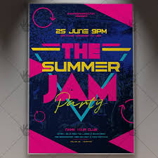 Club Flyers Address Summer Jam Flyer Psd Template