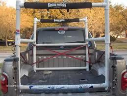 Homemade PVC kayak rack for pickup bed: | Kayak Fishing | Kayak rack ...