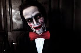 saw jigsaw puppet makeup cosplay by mistergeorgebats