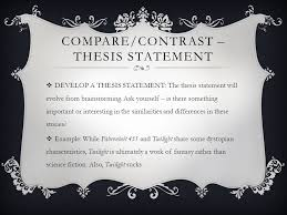compare and contrast essay ppt video online  5 compare contrast thesis statement