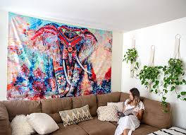 creative ways to use a wall tapestry