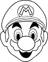 Small Picture Halloween Masks Super Mario Face Coloring Page Wecoloringpage