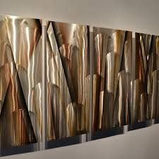 vanishing point 68 x24 earthtone large modern abstract metal wall art sculpture on brown and teal metal wall art with vanishing point 66 x24 large earthtone brown modern abstract