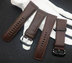 brand 28mm calfskin italian genuine leather watchband brown watch band for men seven friday strap hour