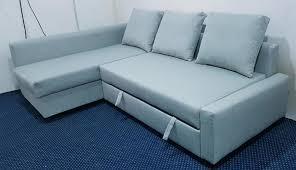 blue friheten ikea sofa bed with