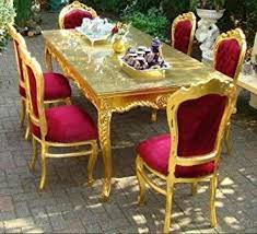 dining room sets co uk. baroque dining room set bordeaux/gold - table + 6 chairs sets co uk h