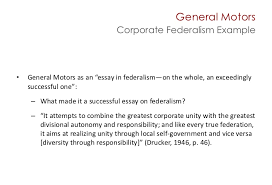 federalism and the distribution of power and authority  10 general motorscorporate federalism