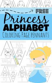 Simply print in black and white and set out with crayons, markers. Disney Princess Alphabet Coloring Pages Pennants
