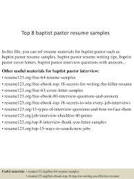 Pastoral Resume Samples Best Of Top 24 Baptist Pastor Resume Samples