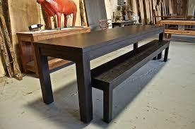 ebony stained oak parsons table lorimer work