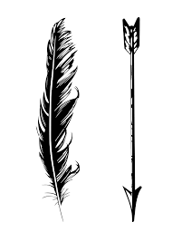 navajo tattoo designs. Black And White Arrow With Feather Tattoo Design Navajo Designs N