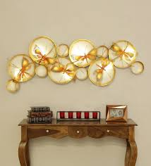 gold metal decorative wall art by