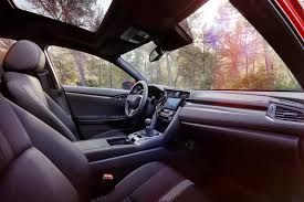 honda 2017 civic hatchback interior detail