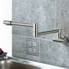 Wall Mounted Kitchen Faucets Puriscal Double Joint Wall Mounted Stainless Steel Kitchen Sink Faucet