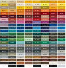 Ral Colour Chart 2016 General Paint Color Chart Great For Picking Colors For Your