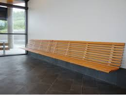 Wall-Mounted wooden Bench with back NO2 | Wall-Mounted Bench