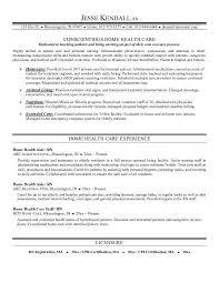 home health nurse resume sample care nurse resume