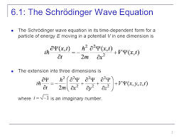 6 1 the schrödinger wave equation