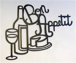 bon appetit kitchen metal wall art on wall art for kitchens metal with wine glass holder metal wall art