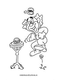Kleurplaat Clown Happy Hamburger Algemeen