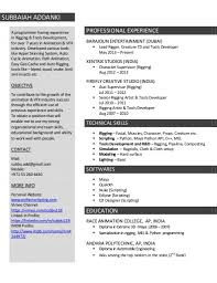 14 Doc Resume Examples Visual Effects Artist Vfx Artist Resume