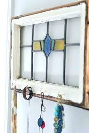 stained glass wall hangings stain window art antique jewelry organizer faux hanging