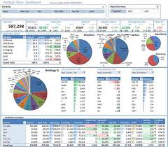 finances excel template portfolio slicer takes fetches data from yahoo finance and pushes