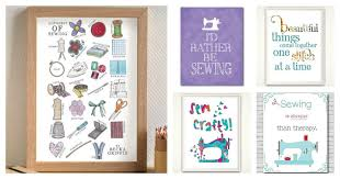 find more sewing room wall art ideas here
