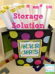 How To Diy Anchor Chart Storage Classroom Organization