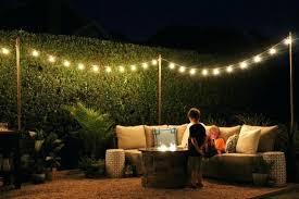 backyard string lighting. Outdoor String Lighting Ideas. Backyard Lights Ideas Poles For Globe On The Deck I