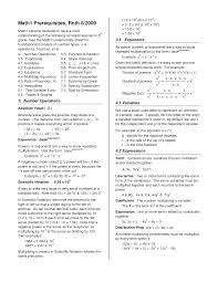 Algebra Formulas Cheat Sheet Algebra A Cheat Sheet Doc
