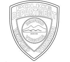 Small Picture Police Badge Coloring Page In glumme