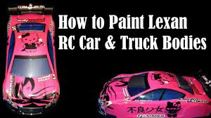 how to paint clear rc car truck bos lexan polycarbonate you