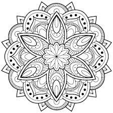 Easy Free Mandala Coloring Pages Free Coloring Mandalas Mandala