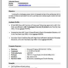 Mba Student Resume Format Floating Cityorg