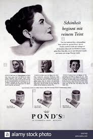 advertising cosmetics pond s skin cream adver 1957 head of a