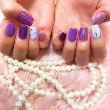 ネイル グラデーション 青 紫