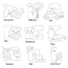 Royalty Free Coloring Pages Coloring Alphabet Flash Cards Together