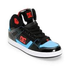 dc shoes high tops red and black. say goodbye to twisted ankles with the boy\u0027s rebound hi-top skate shoe from dc dc shoes high tops red and black -