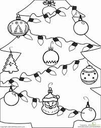 Small Picture Christmas Ornament Worksheet Educationcom