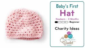 Baby Hat Pattern Gorgeous Crochet Baby's First Hat Up To 48 Months Tutorial The Crochet Crowd