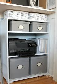 Under Desk Storage Cabinet Remodelaholic Making An Organized Closet Office Craft Space
