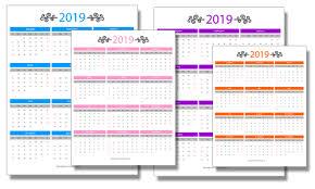 Calendar Year 2019 Printable 2019 Calendar Year At A Glance Bedandbreakfastitalia Info