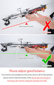 dji f550 gps drone rtf naza v2 helipal remember to re balance the drone it s very important to off set the gimbal and camera weight by repositioning the battery on the rail otherwise you will