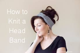 Knitted Headband Pattern Magnificent Decorating
